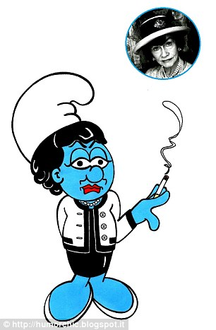 Fashion Smurfs - Coco Chanel